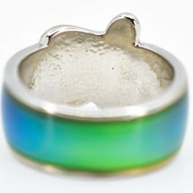 Cute Sea Turtle Two-Tone Children's Color Changing Fashion Mood Ring image 4