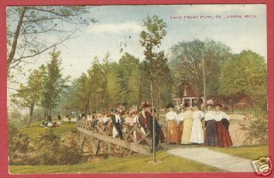 ST JOSPEH MI Lake Front Pk Ladies Michigan 1920 BJs