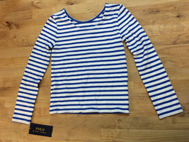 Ralph Lauren Childrenswear Girls' Striped Long-Sleeve, Blue, Size 6 - $24.74