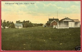 Alpena MI Long Lake Cottages Michigan Postcard BJs - $9.00