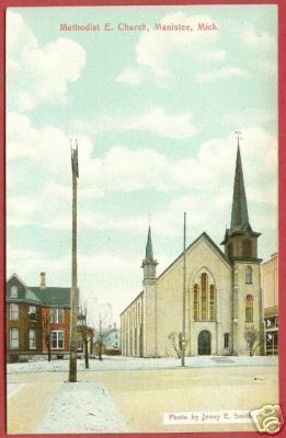 Primary image for Manistee MI Methodist Church Jenny Smith Postcard BJs