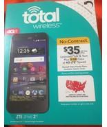 NEW Total Wireless ZTE ZFIVE 2 LTE Z837VL Prepaid Smartphone - $37.39