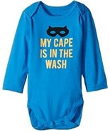 The Children's Place Long Sleeve Bodysuit My Cape is in the Wash 6-9 months - $10.88