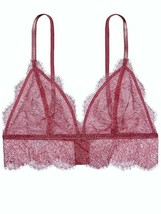 abbe59f7ce victoria  39 s secret Bra size Large bralette Chantilly Lace Lilac Pink Nwt  .