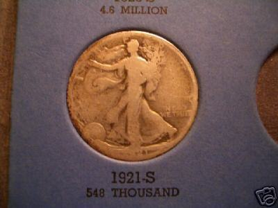 Nice Key Date 1921S Walking Liberty Half