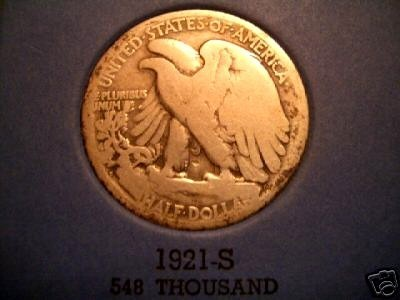 Nice Key Date 1921S Walking Liberty Half