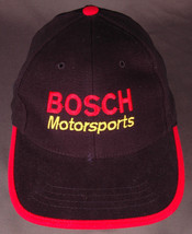 GMC BOSCH Motorsports Hat-Black/Red-Strapback-Race Car Truck Auto Garage-Nissun - $28.04