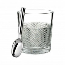 Waterford Diamond Line Ice Bucket with Scoop New # 40028778 - $248.24