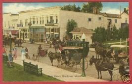 Mackinac Island Mi Main Horse Surrey Store Postcard BJs - $7.00