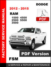 DODGE 2012 - 2015 RAM 1500 2500 3500 4500 5500 5.7L 6.7L SERVICE REPAIR ... - $14.95