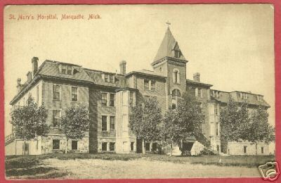 Marquette Mi St Mary's Hosptial Michigan Postcard BJs