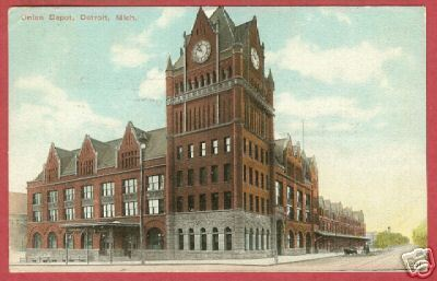 DETROIT MICHIGAN Union Depot MI 1912 BJs