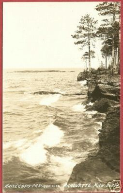 Primary image for Marquette Mi Presque Isle Whitecaps RPPC Postcard BJs
