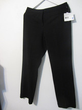 NWT Women's Liz Claiborne Audra tan Black straight leg dress pants ~ Size 8 - $15.00