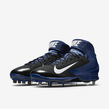 Nike Air Huarache Pro Mid Metal Baseball Cleats New Black Blue Men's 599... - $45.80