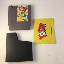 Yoshi Nintendo NES Original Game Cartridge 1985 3 Screw w/ Manual TESTED - $19.59