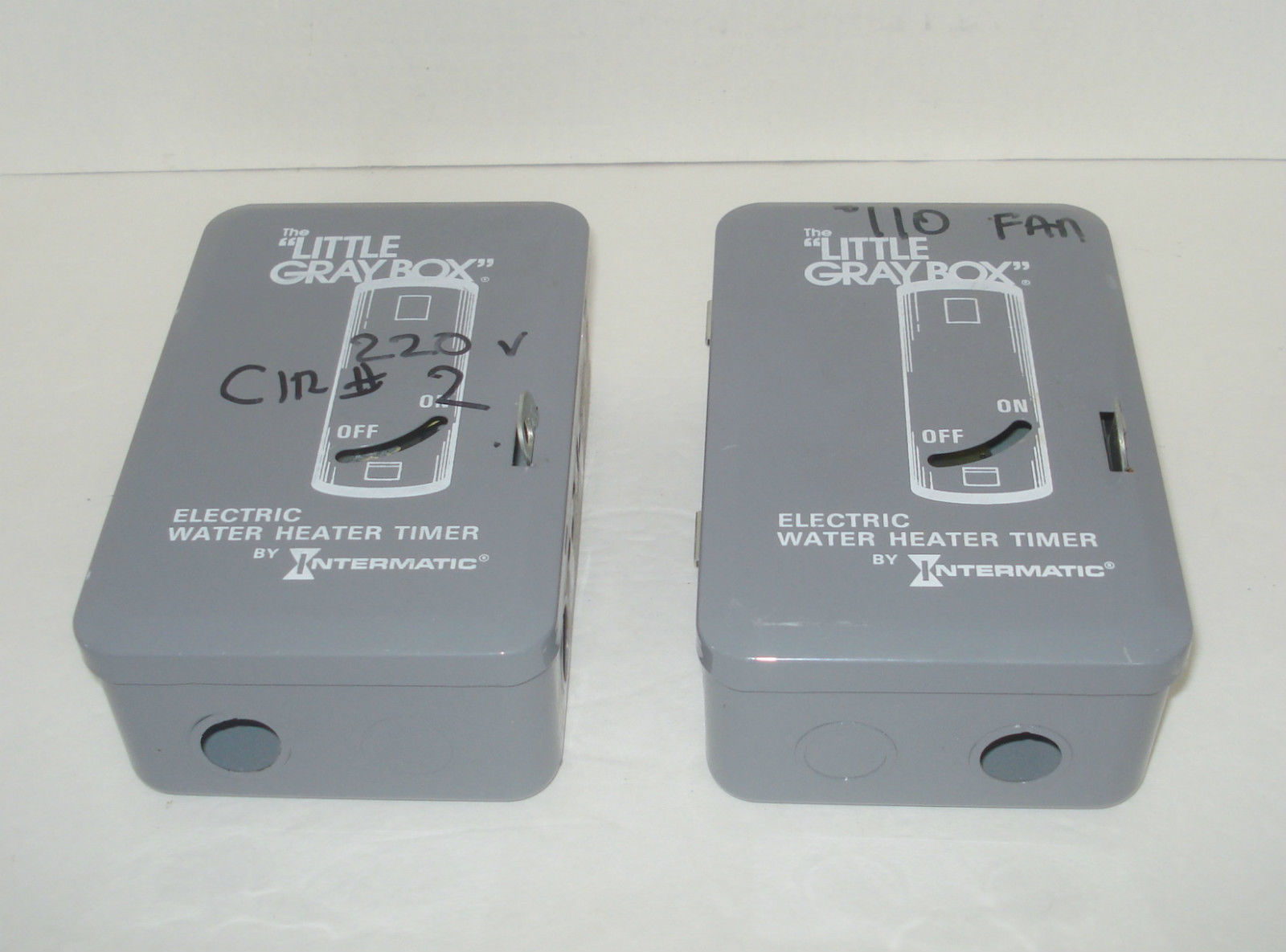 set of 2 intermatic wh40 electric water heater timer ... lil gray box diagram