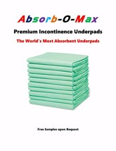 Absorb-O-Max Premium Super Absorbent Adult Incontinence Underpads the Wo... - $42.00