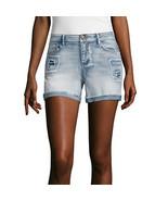 "Vanilla Star 4"" Midi Shorts-Juniors Size 0 New Msrp $42.00 Light Wash - $14.99"