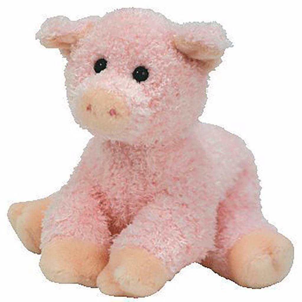 Soybean The Pig Retired Ty Beanie Baby Mint Condition with Tags Collectible