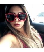 Fashion Sunglasses Women Square Sunglasses Bling Rhinestone Oversize Sha... - $19.99