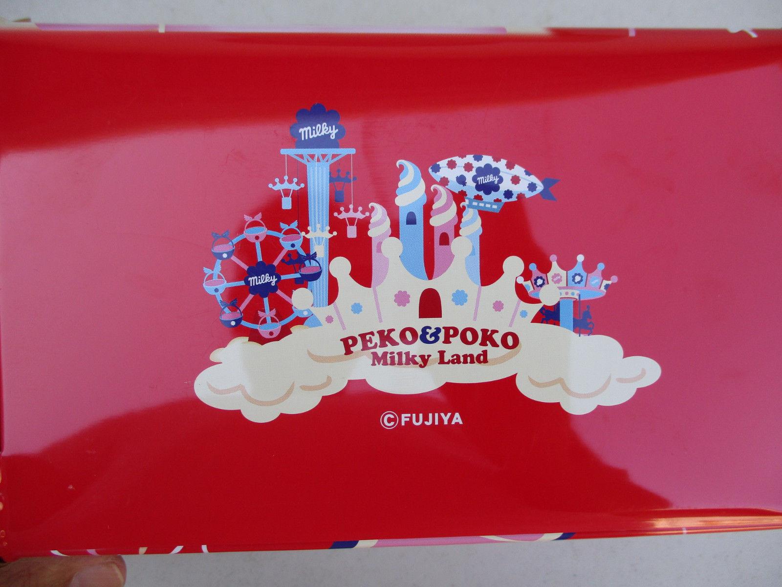 Japanese Lunch Box Peko & Poko Advertising Figures Candy Company Metal Fujiya
