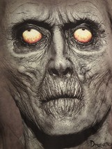 Grey Zombie Face Unisex Tee Sz. L - £4.80 GBP