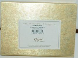 Caspari 90614 48 Thank You Wreath by Janine Moore 6 Notes and Envelopes image 3