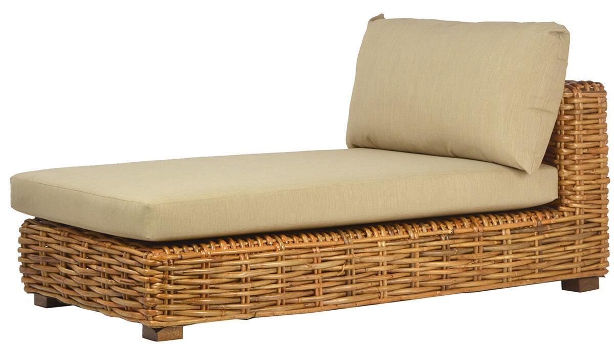 Outdoor Patio Sofa Furniture Daybed w/Foam Cushions Wicker Rattan,63''L x 21''H.