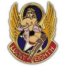 USAF LUCKY EIGHTH ART PIN - $5.93