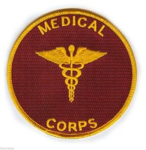 "ARMY MEDICAL CORPS  4"" EMBROIDERED MILITARY BRANCH  CADACEUS PATCH - $18.04"