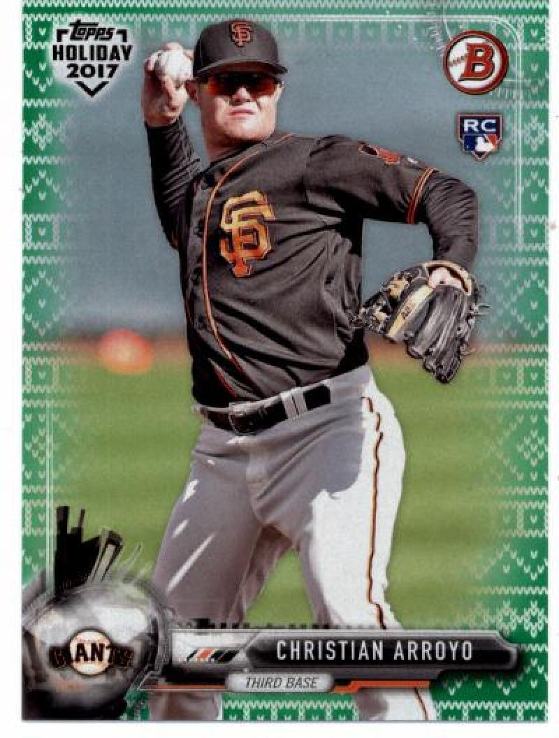 Primary image for 2017 Bowman Holiday Green Holiday Sweater #TH-CA Christian Arroyo NM-MT /99 Gian
