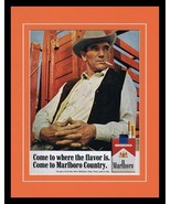 1966 Marlboro Man Cigarettes 11x14 Framed ORIGINAL Vintage Advertisement  - $46.39