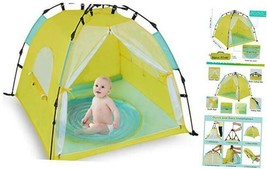 Bend River Automatic Instant Baby Tent with Pool, UPF 50+ Beach Sun Shel... - $67.61