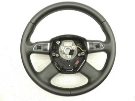 2012 8R B8 Audi Q5 Quattro Leather Steering Wheel 4 Spoke Volume Control -735 - $84.15