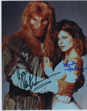 Beauty & the beast hand signed photo by Pearlman & Hamilton
