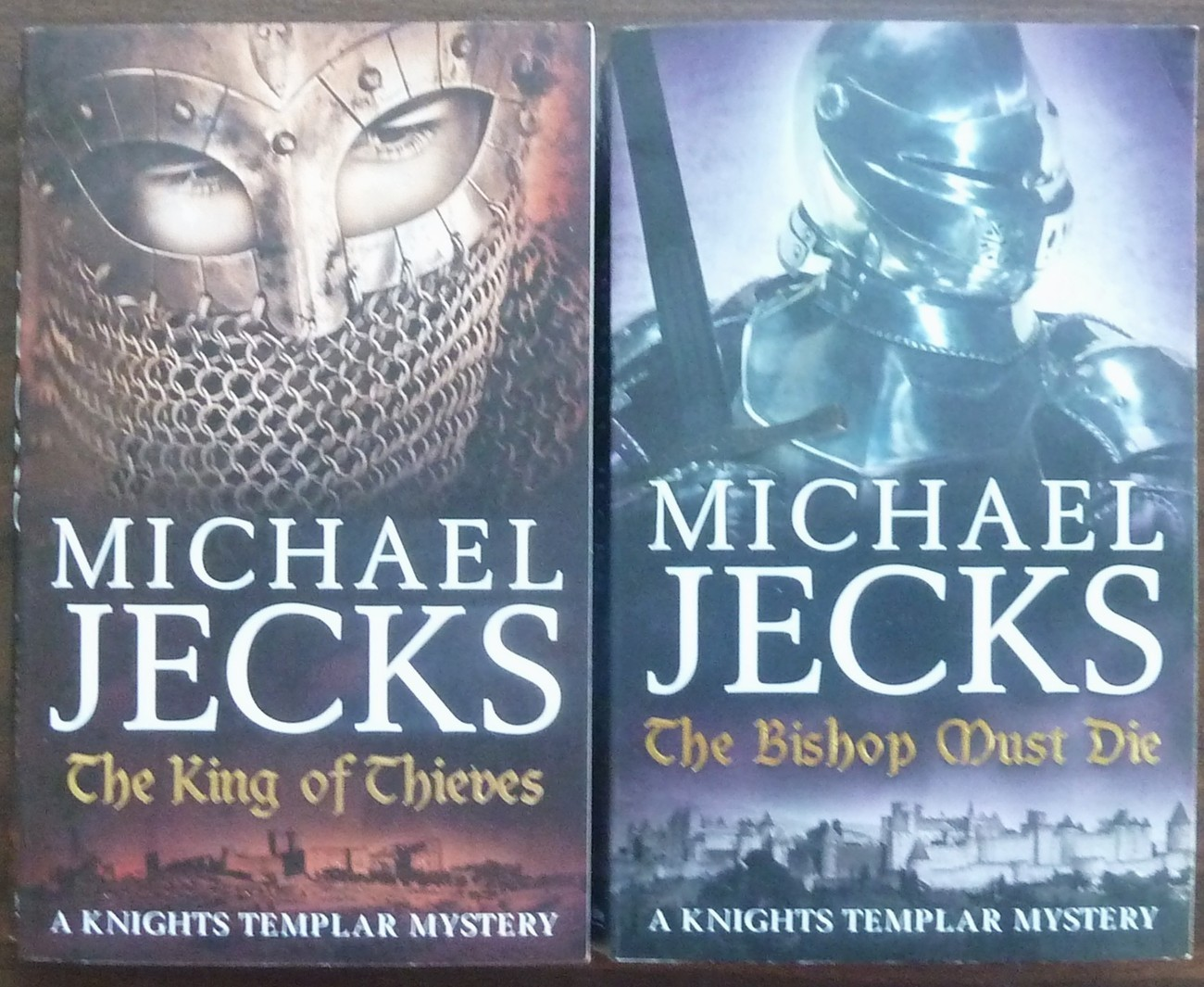 2 Knights Templar Mystery, The King of Thieves, Bishop Must Die by Michael Jacks