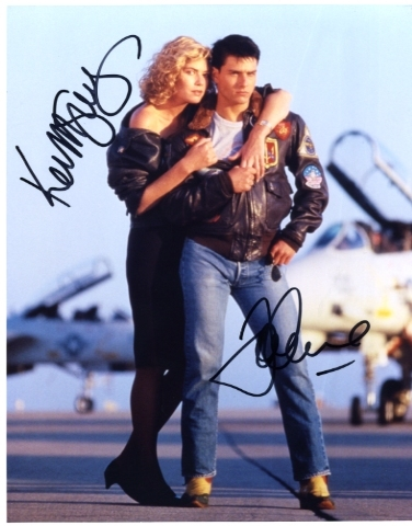 Top Gun hand signed Autographed Photo Tom Cruise & Kelly McGillis
