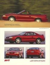 1996 Ford SVT MUSTANG COBRA sales brochure sheet US 96 - $9.00