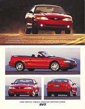 1997 Ford SVT MUSTANG COBRA sales brochure sheet US 97 - $10.00