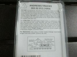 Micro-Trains Stock # 00302012 (1053) Andrews Trucks  Medium Extension N-Scale image 3