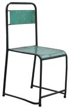 Antiqued Metal Chair, Green - $137.81