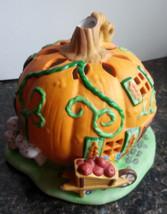 Pumpkin Patch Tealight House Candle Holder Halloween Autumn Fall Partyli... - $19.75