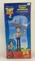 Toy Story 2 Animate Woody Sprinkler w Swinging Lasso Water Toy Disney New in Box - $54.40