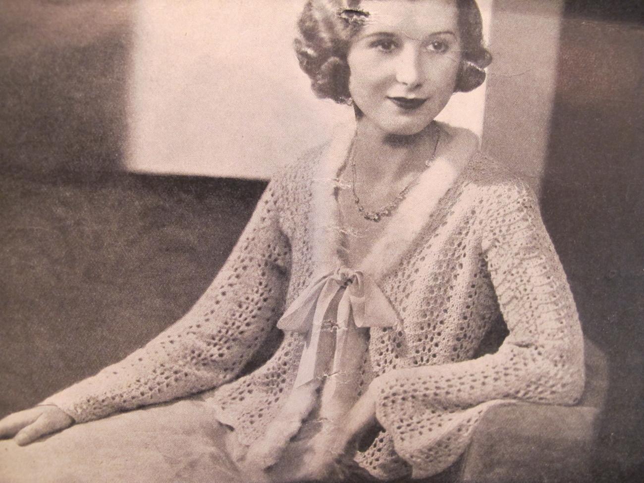 Vintage Knitting Crocheting Crochet Patterns Bed Jackets Night Cap ADULTS