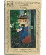 """WOOD WORKING PATTERNS / COUNTRY WHIMS ~ HENRY HARVEST - 22"""" - $9.99"""