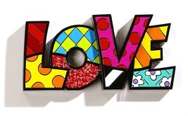 "Romero Britto the word ""LOVE"" Table Shelf Decor"