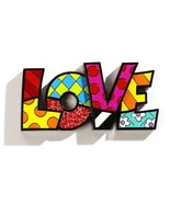 "Romero Britto the word ""LOVE"" Table Shelf Decor  - €35,55 EUR"