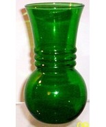 ANCHOR HOCKING/FIRE KING FOREST GREEN VASE - $6.95