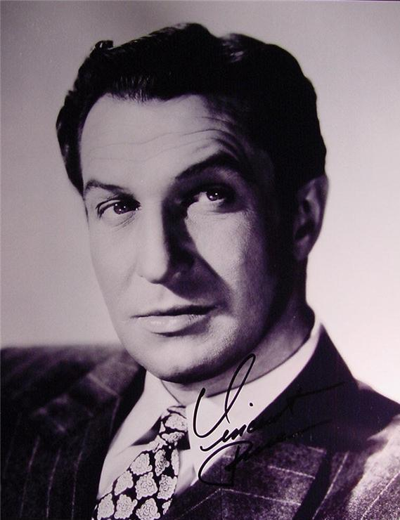 Vincent Price hand signed autographed photo
